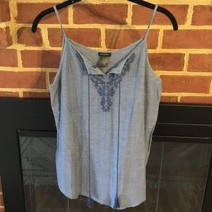 Chambray  Ann Taylor Tank Top